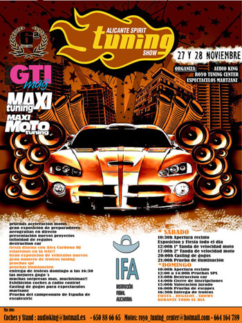 Cartel del evento - ALICANTE TUNING SHOW 2010