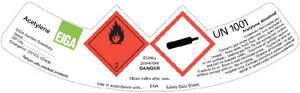 Etiquetas de gases